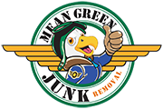 Mean Green Junk Removal logo with clear background